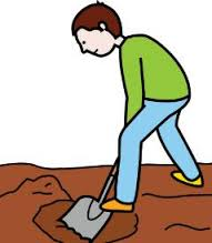 cavar un hoyo jardin