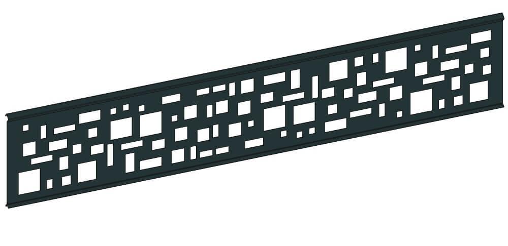 Lama decorativa ancha blanco-negro