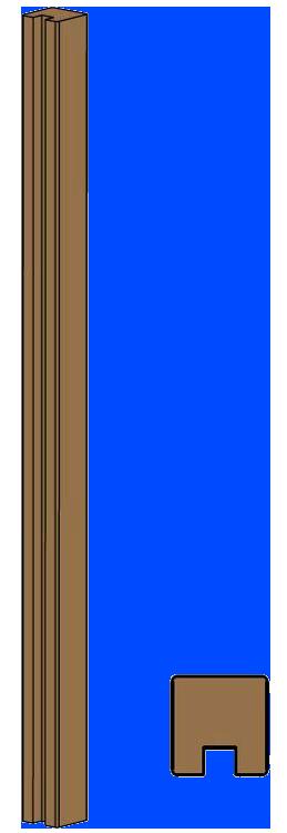 Poste ranura valla de madera