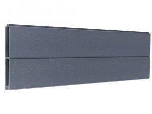 Lama de madera composite gris antracita para crear vallas de diseño