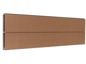 Lama de madera composite marron