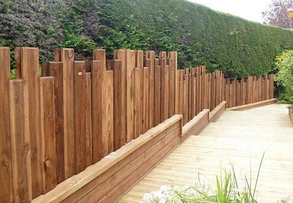 Panel ocultación jardín rústico