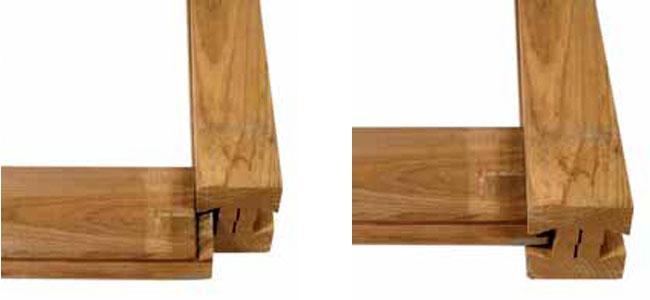 Sistema montaje a la cola de milano para vallas madera de lamas apilables