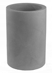 Maceta vondom cilindro alto acero