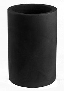 Maceta vondom cilindro alto negro