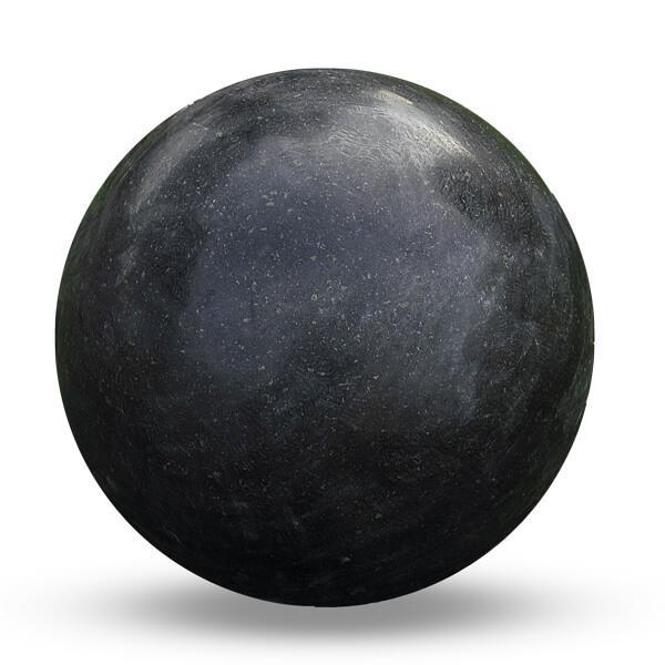 Esfera decorativa jardín granito negro