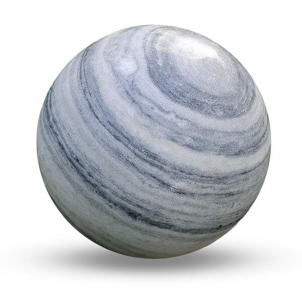 Esfera decorativa jardin marmol veteado