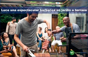 luce una espectacular barbacoa