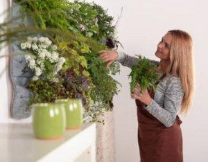 colgantes plantas artificiales